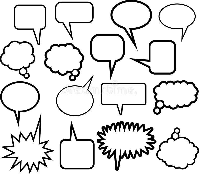 Word Balloon Icons vector illustration