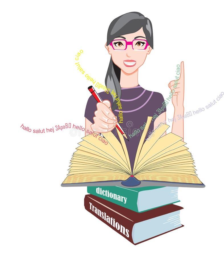 Word betydelser och översättningar, illustration vektor illustrationer