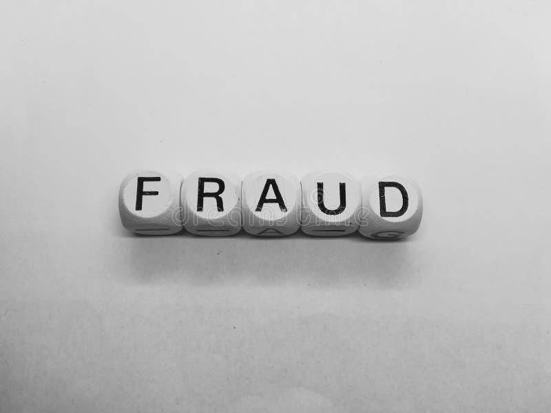 Word binnen gespelde de fraude dobbelt royalty-vrije stock afbeelding