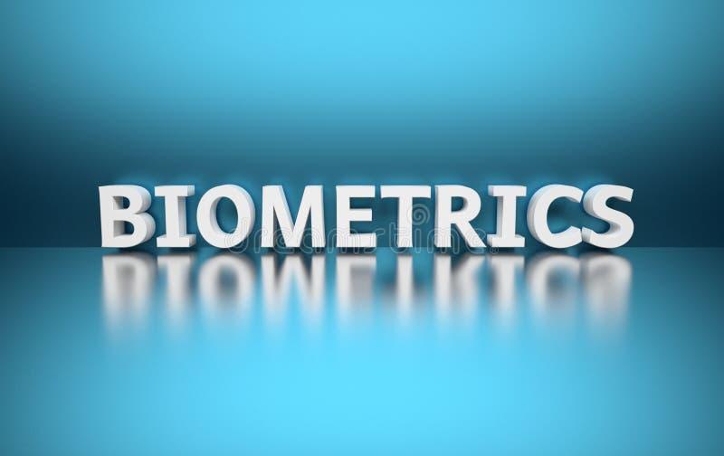 Word Biometrie vector illustratie