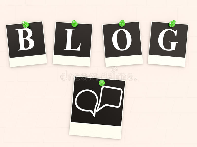 Word BLOG from letters