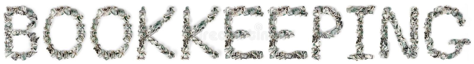Download Bookkeeping - Crimped 100$ Bills Stock Photo - Image: 29762814