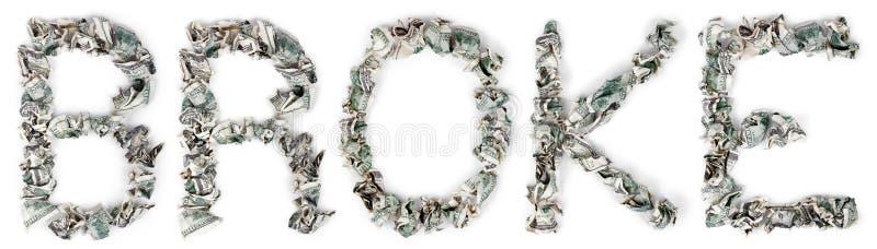 Download Broke - Crimped 100$ Bills stock photo. Image of alphabet - 29763010