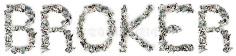 Download Broker - Crimped 100$ Bills Stock Photo - Image: 29961912