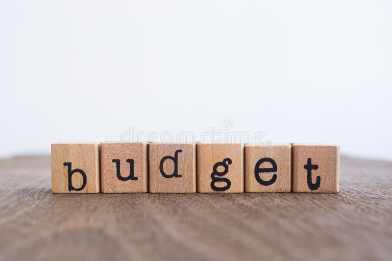 The word Budget, copy space background. royalty free stock photos