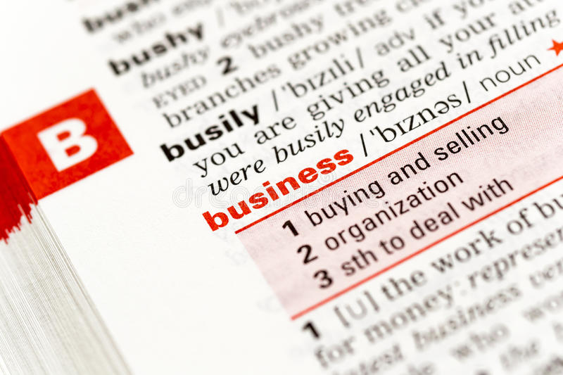 The Word Business Stock Photography