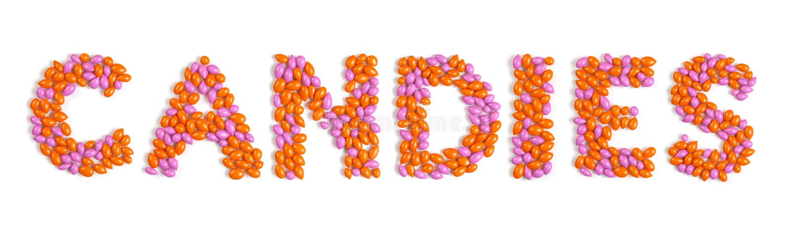 Download Word Candies Made From Colorful Dragee Stock Image - Image: 17205239