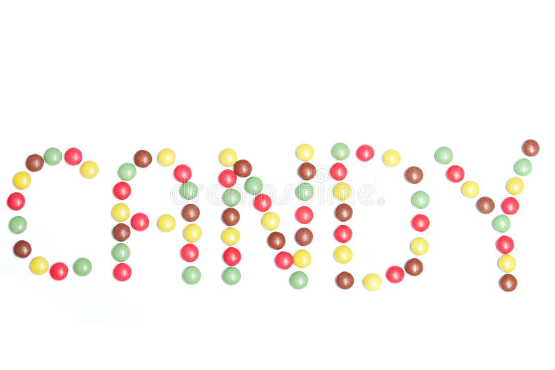 Word in candy royalty free stock photo