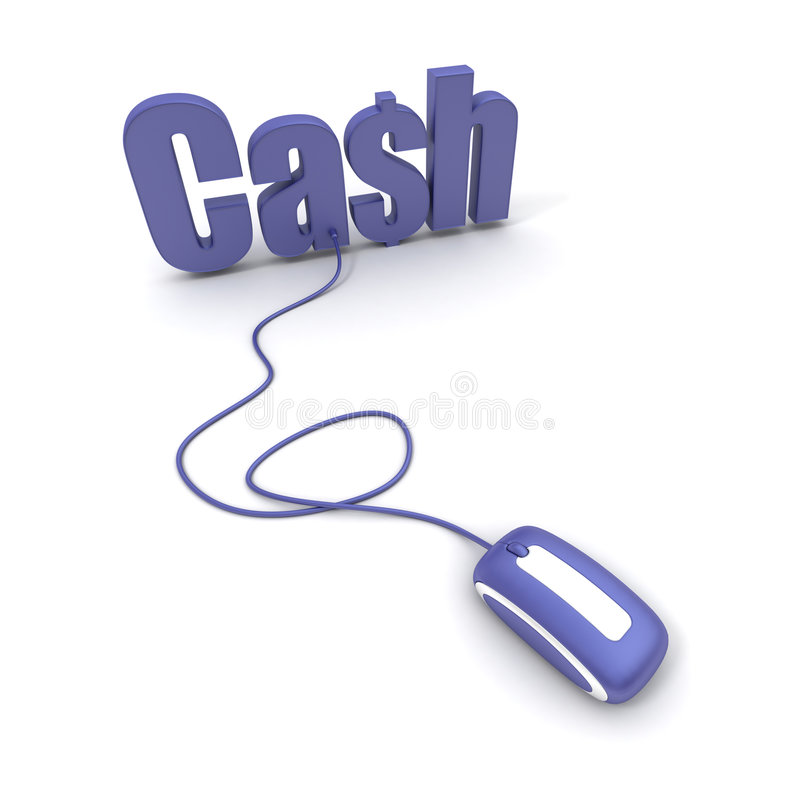 Download Word Cash Connected To A Computer Mouse Stock Illustration - Image: 5794726