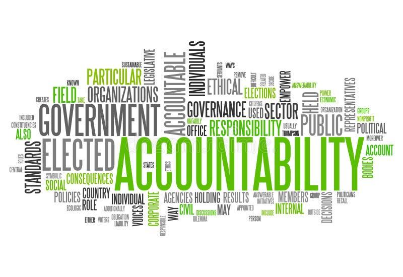 Word Cloud Accountability stock illustration