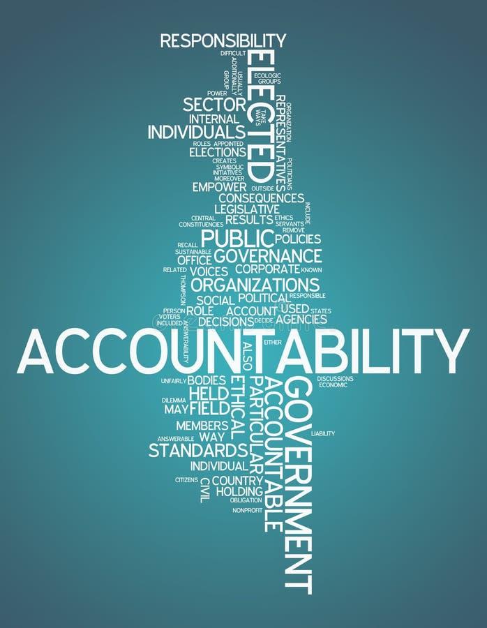 Word Cloud Accountability royalty free illustration