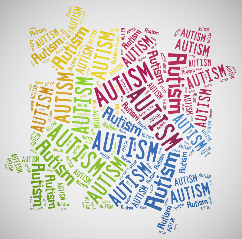 Word cloud autism awareness related. Tag cloud autism awareness related royalty free illustration