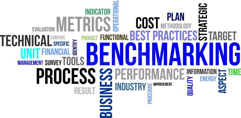 Word cloud - benchmarking stock illustration