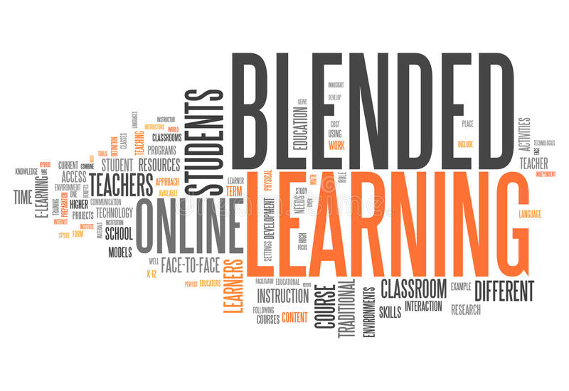 Word Cloud Blended Learning royalty free illustration
