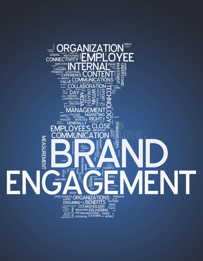 Word Cloud Brand Engagement royalty free illustration