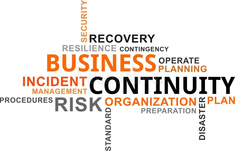 Word cloud - business continuity stock illustration
