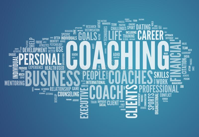 Word Cloud Coaching vector illustration