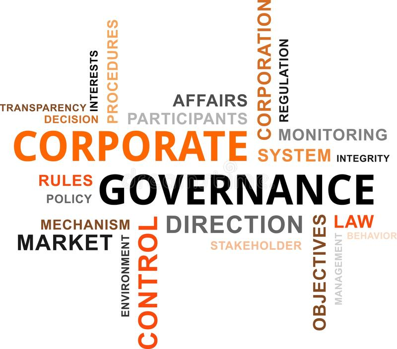 Word cloud - corporate governance royalty free illustration