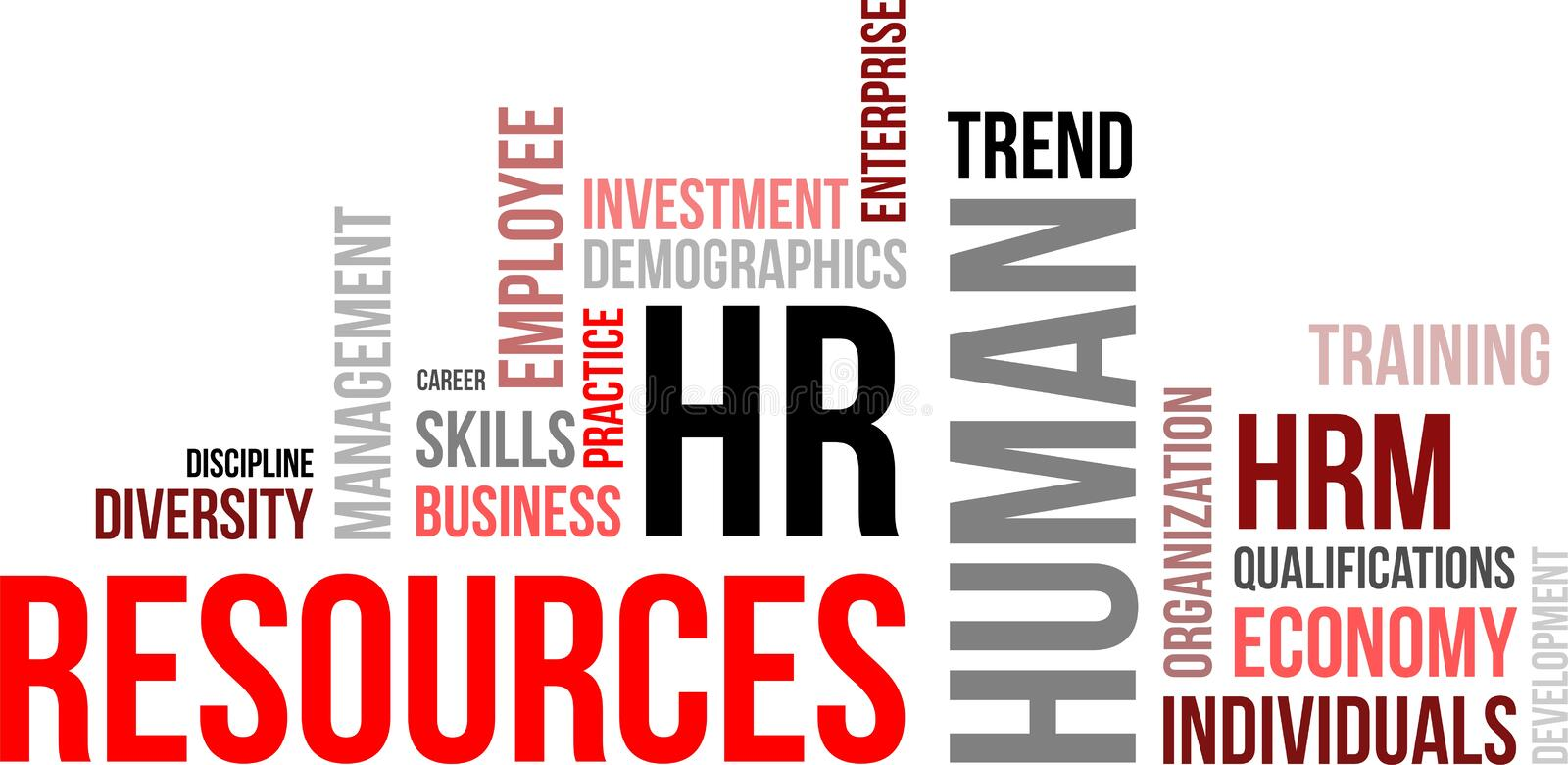 Word cloud - human resources royalty free illustration