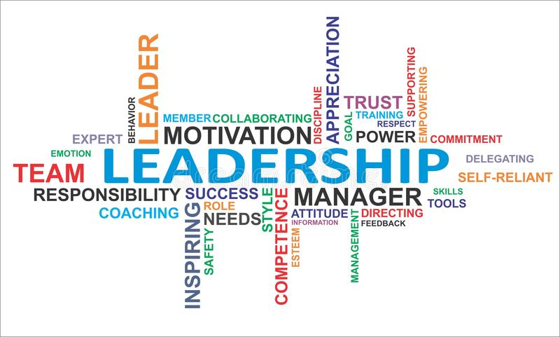 Word cloud - leadership royalty free illustration