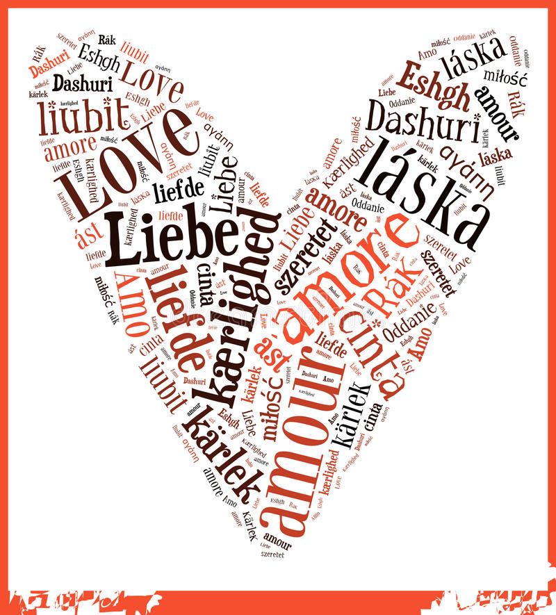Word Cloud Love vector illustration