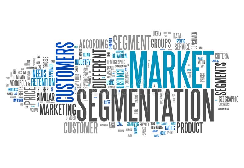 Word Cloud Market Segmentation royalty free illustration