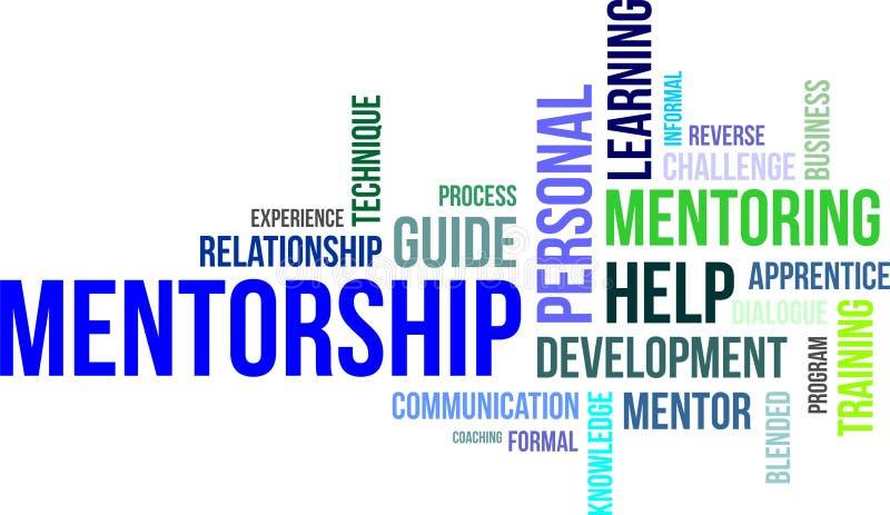 Word cloud - mentorship stock illustration