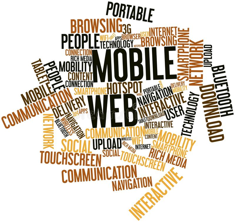 Word Cloud For Mobile Web Stock Photo