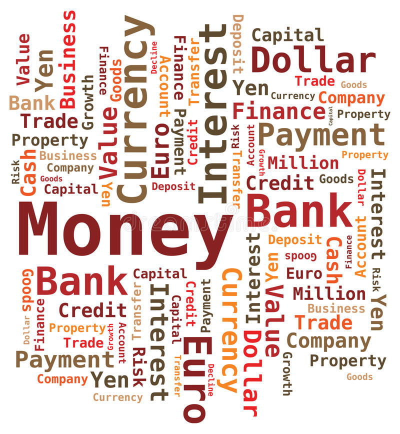 Download Word Cloud - Money /Bank / Value Stock Image - Image: 17000591
