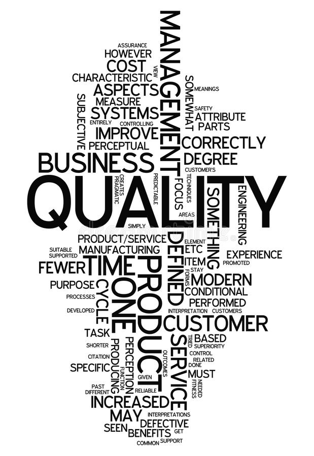 Word Cloud Quality. Word Cloud with Quality related tags vector illustration