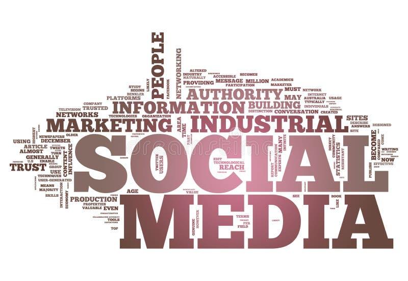 Word Cloud Social Media stock illustration