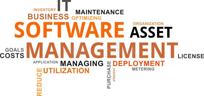Word cloud - software asset management. A word cloud of software asset management related items royalty free illustration