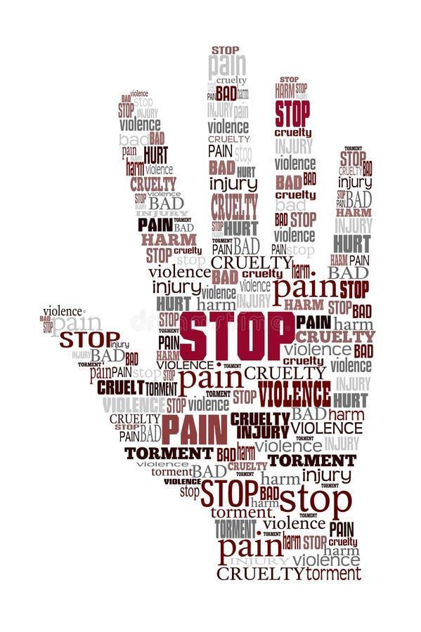 Word cloud stop violence vector illustration