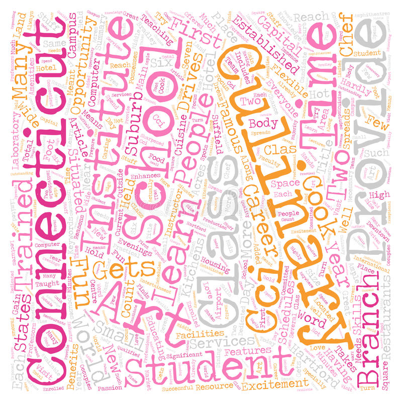 Word Cloud Text Background Concept. Arts Culinary School In Connecticut text background wordcloud concept royalty free stock photo