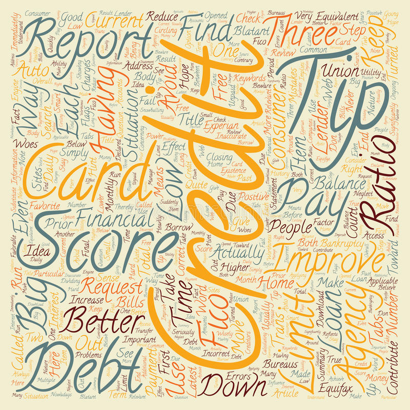 Word Cloud Text Background Concept. Better Credit Scores Tips text background wordcloud concept stock image