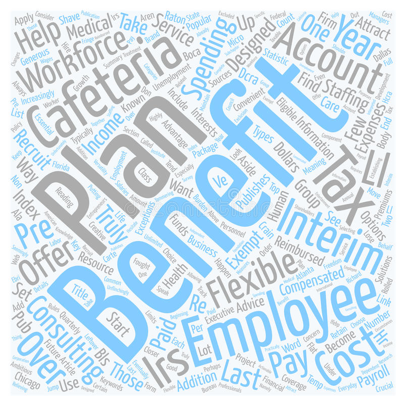 Word Cloud Text Background Concept. Cafeteria Benefits and Your Workforce text background wordcloud concept stock images