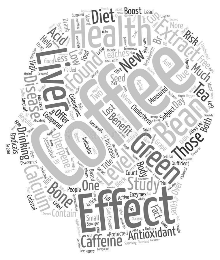 Word Cloud Text Background Concept. Coffee Health New Antioxidant On The Block text background wordcloud concept vector illustration
