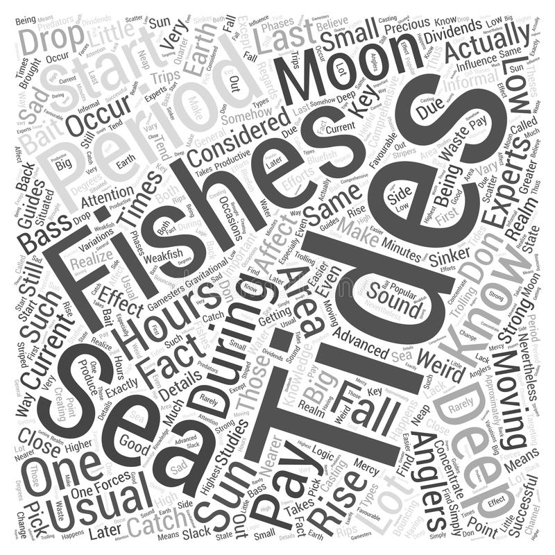 Word Cloud Text Background Concept. Deep Sea Fishing Knowing Your Tides word cloud concept vector illustration