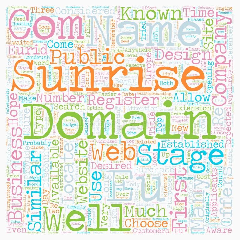 Word Cloud Text Background Concept. EU Domains text background wordcloud concept stock photos