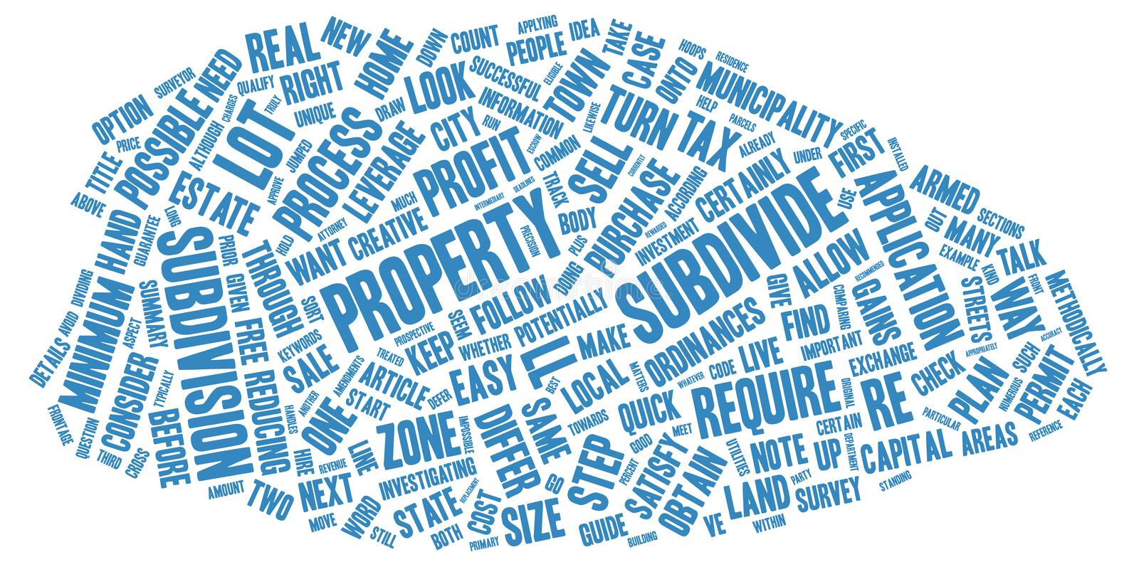 Word Cloud Text Background Concept. The Guide to Subdivide text background wordcloud concept royalty free stock image