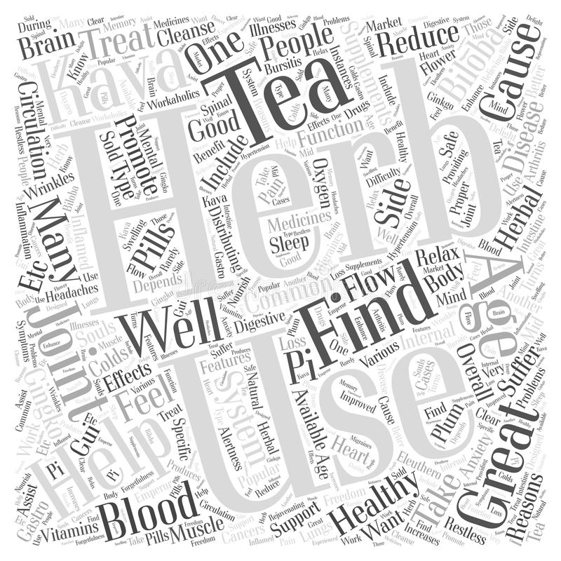 Word Cloud Text Background Concept. Herbs Helping with Healthy Aging word cloud concept royalty free illustration