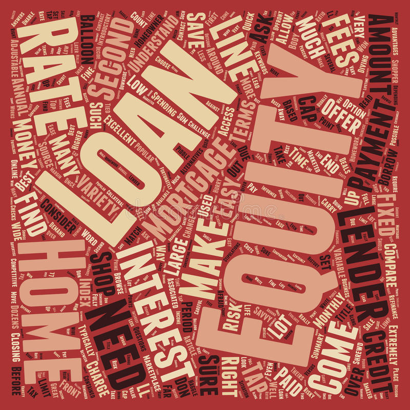 Word Cloud Text Background Concept. Is a Home Equity Loan Right For You text background wordcloud concept stock image