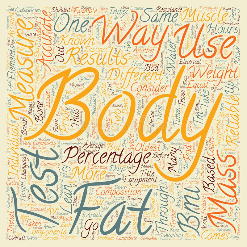 Word Cloud Text Background Concept. How To Test Body Fat text background wordcloud concept royalty free stock image