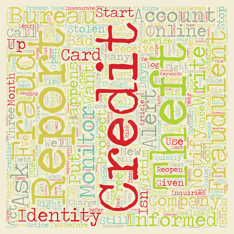 Word Cloud Text Background Concept. Identity Theft When It Happens To You text background wordcloud concept stock photography