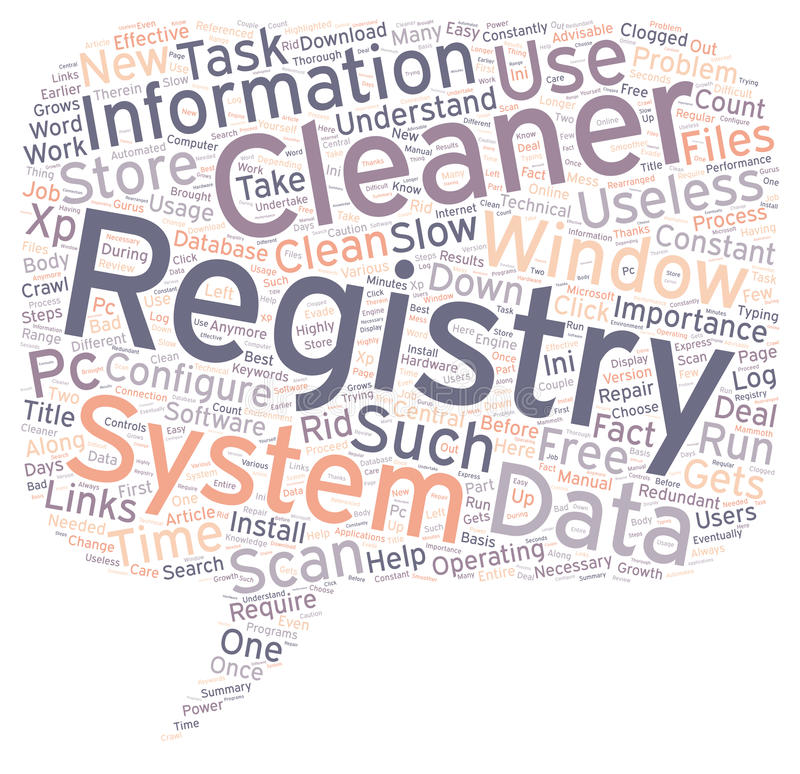Word Cloud Text Background Concept. The Importance Of A Registry Cleaner text background wordcloud concept royalty free illustration