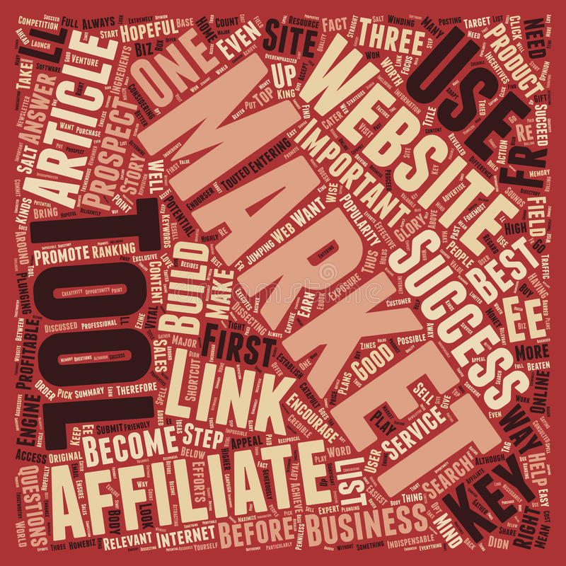 Word Cloud Text Background Concept. Indispensable Tools to Catapult the Affiliate Marketer s Sales text background wordcloud concept stock images