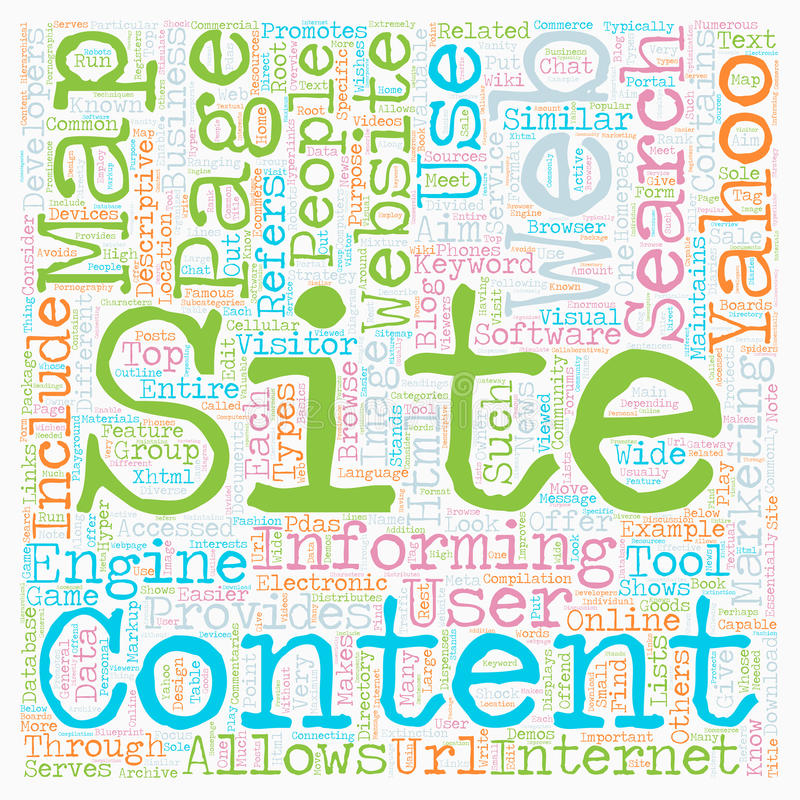 Word Cloud Text Background Concept. JP yahoo sitemap text background wordcloud concept stock illustration