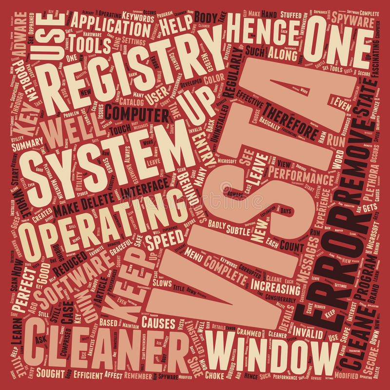Word Cloud Text Background Concept. Learn About Windows Vista Registry Cleaner text background wordcloud concept vector illustration