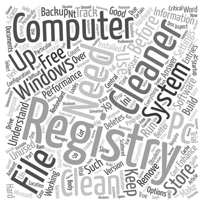 Word Cloud Text Background Concept. Why Do You Need A Registry Cleaner text background wordcloud concept royalty free illustration