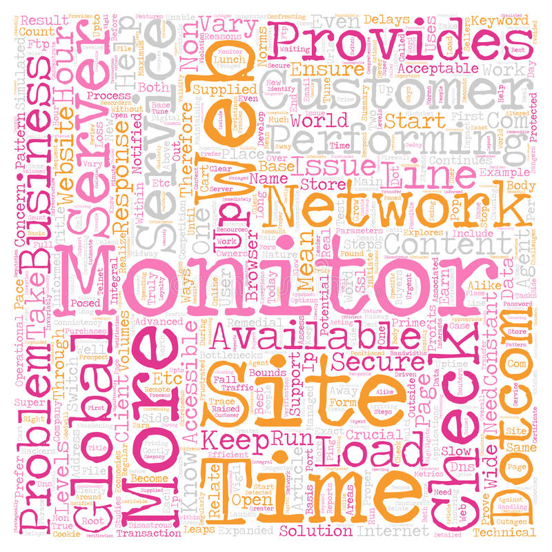Word Cloud Text Background Concept. Why Dotcom Monitor Service Is Crucial to e Business text background wordcloud concept vector illustration